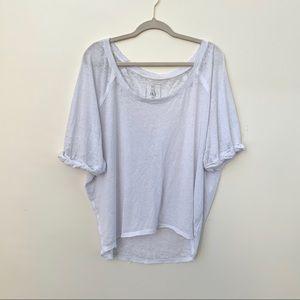 Free People Oversized White Tee Shirt